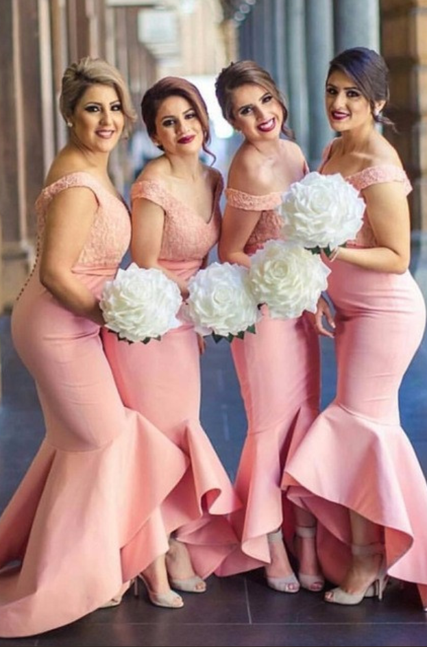 Charming Bridesmaid Dress,Mermaid Bridesmaid Dresses,Off Shoulder Lace Bridesmaid Dress F2997