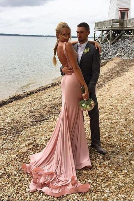 Sleeveless Prom Dress,Mermaid Prom Dresses,Sexy Evening Dress,Long Evening Dresses F2349
