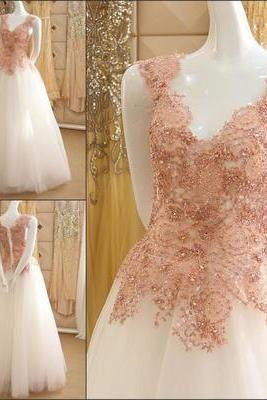 Elegant Prom Dress,Beading Appliques,Sleeveless Prom Dresses,Long Prom Dress, Formal Evening Dress F2372