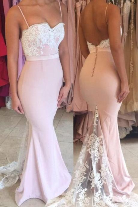 Sexy Prom Dress,Mermaid Evening Dress with Slit,Sleeveless Appliques Prom Dresses,Long Prom Dress F2374