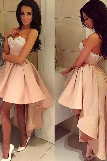 Sexy Prom Dress,High Low Prom Gown, Long Prom Dress,Homecoming Dress Prom Dresses F2453
