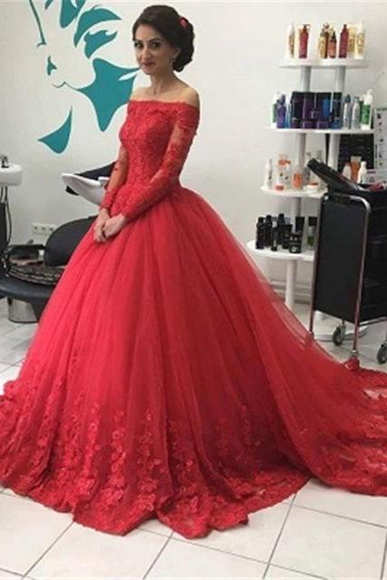 Charming Prom Dress,Long Prom Dresses,Ball Gown Prom Dresses,Appliques Lace Party Gown, Formal Evening Dress F2639
