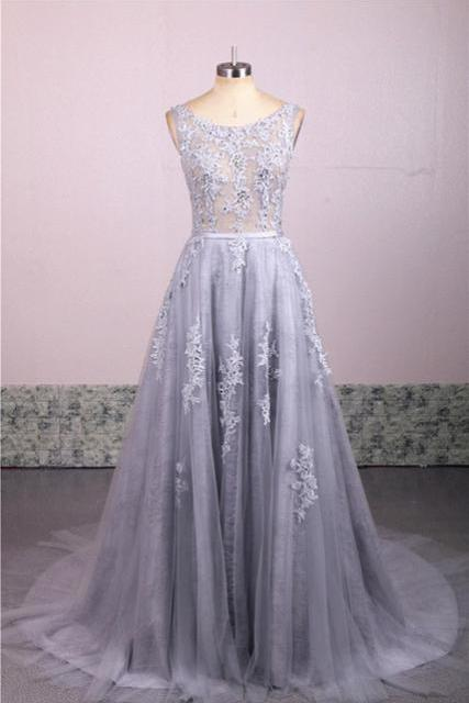 Charming Prom Dress,Elegant A Line Lace Prom Dresses,Long Prom Dress,Sleeveless Homecoming Dress,Evening Dress F2644