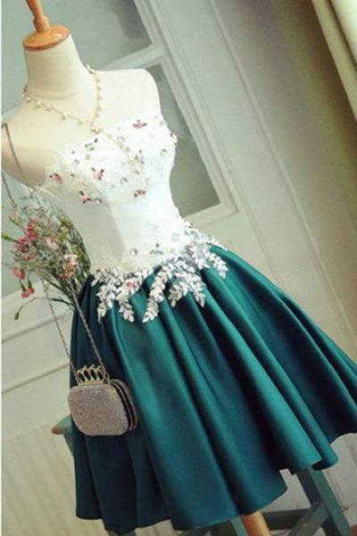 Charming Prom Dress,Strapless Prom Gown,Short Homecoming Dress,Elegant Graduation Dress,Party Gown F2739