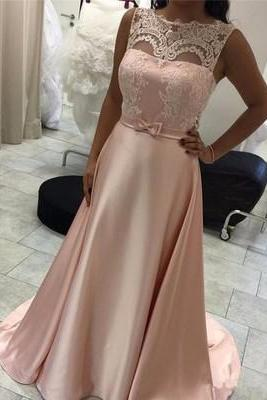 Charming Prom Dress,Elegant Prom Dresses,Long Evening Dress,Lace A Line Evening Dresses,Formal Gown F2759