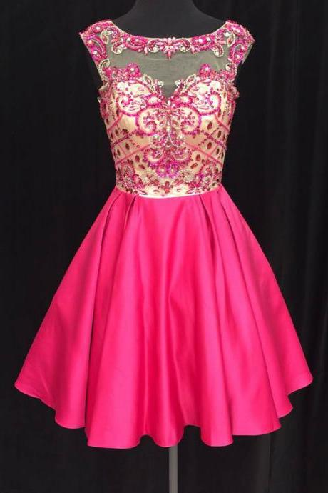 Charming Prom Dress,Elegant Prom Dress,Beaded Prom Party Gown ,Short Homecoming Dress,Graduation Dress F3096
