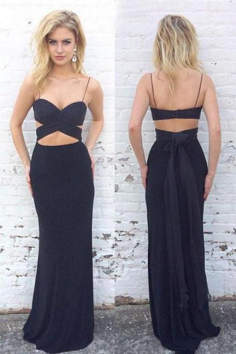 Sexy Prom Dress,Charming Prom Dress,Spaghetti Straps Evening Dress,Chiffon Mermaid Prom Dresses F3555