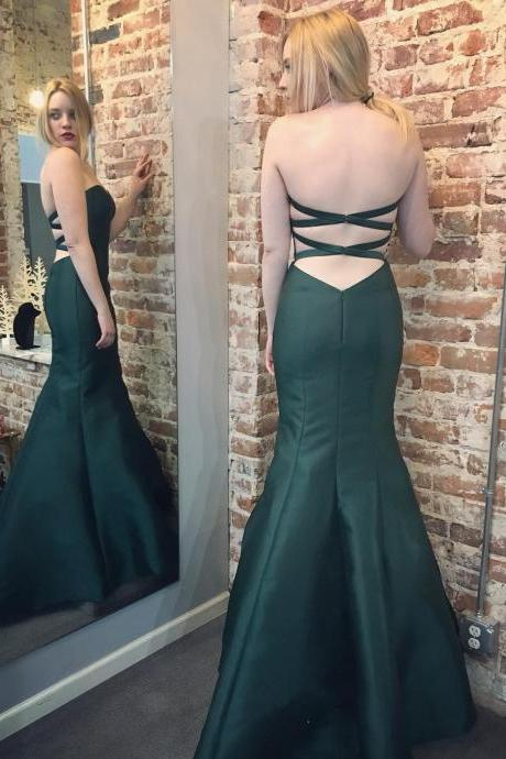 Charming Prom Dress,Mermaid Prom Dresses ,Sexy Evening Dress, Open Back Evening Gowns F3795