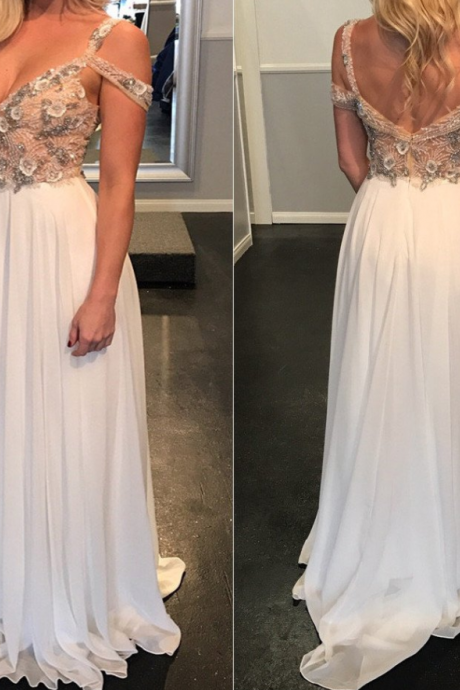 A Line Prom Dress,Sexy Evening Party Dress, Chiffon Evening Dress, Long Prom Dressess F3852