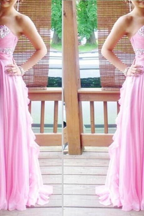 Charming Prom Dress, Sexy Evening Party Dress,Chiffon Evening Dress,Long Prom Dress F3857