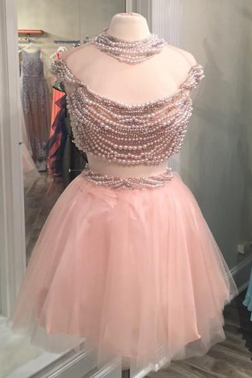 Charming Prom Dress, Sexy Two Piece Prom Dresses, Tulle Homecoming Dress