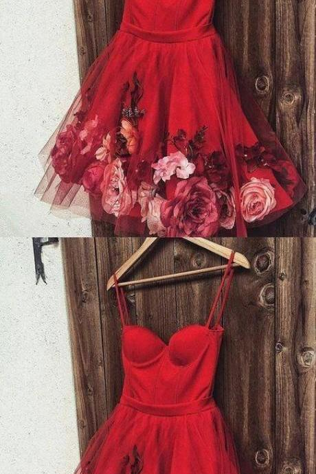 Sexy Prom Dress, Tulle Prom Dresses, Short Homecoming Dresses