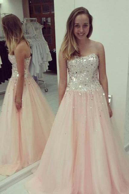Charming Prom Dress, Long Evening Dress,A Line Tulle Evening Dresses,Sexy Prom Dress F357