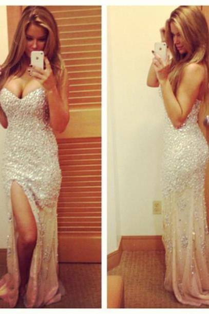 Charming Prom Dress,Sleeveless Prom Gown,Sexy Prom Dresses,Long Party Dress F368