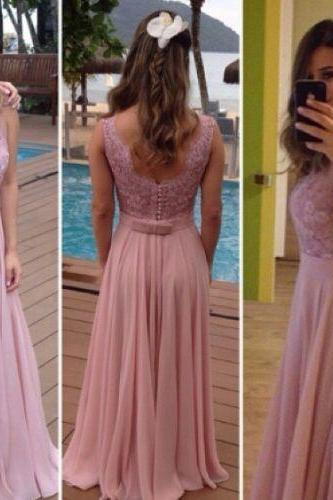 Charming Prom Dress,Sleeveless Appliques Chiffon Evening Dress,Sexy Prom Dresses,Long Party Dress F384