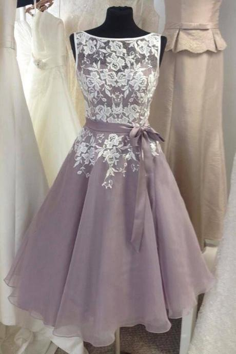Charming Prom Dress,Sleeveless Appliques Prom Dress,Elegant Prom Gown,Short Homecoming Dress F627