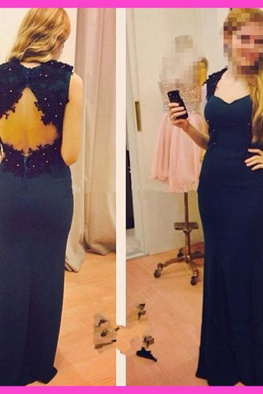 Charming Prom Dress,Long Prom Dress,Chiffon Evening Dress,Formal Gown F655