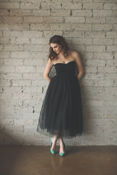 Charming Prom Dress,Sleeveless Sexy Prom Dress,Backless Tulle Black Prom Dresses,Evening Dress F693