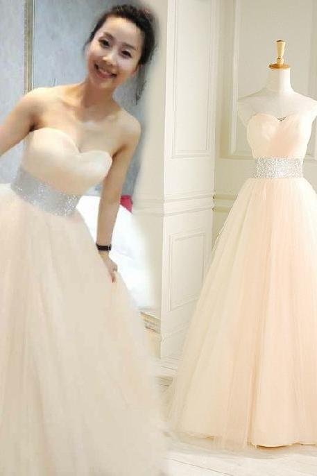 New Arrival Long Evening Dress,Sleeveless Open Back Tulle Evening Dress,Sexy Prom Dresses,Formal Gowns F930