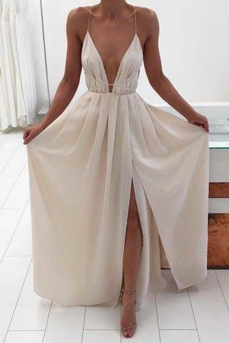Sexy Prom Dress,Sleeveless Chiffon Prom Desses Evening Dress,Long Evening Gowns,Formal Dress F1061
