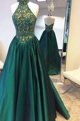 Backless Prom Dress,Sleeveless Prom Dress with Crystal ,Long Prom Dresses,Formal Gowns F1175