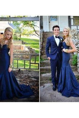 Sleeveless Prom Dress ,Simple Mermaid Prom Dresses,Long Evening Dress,Formal Gowns F1258