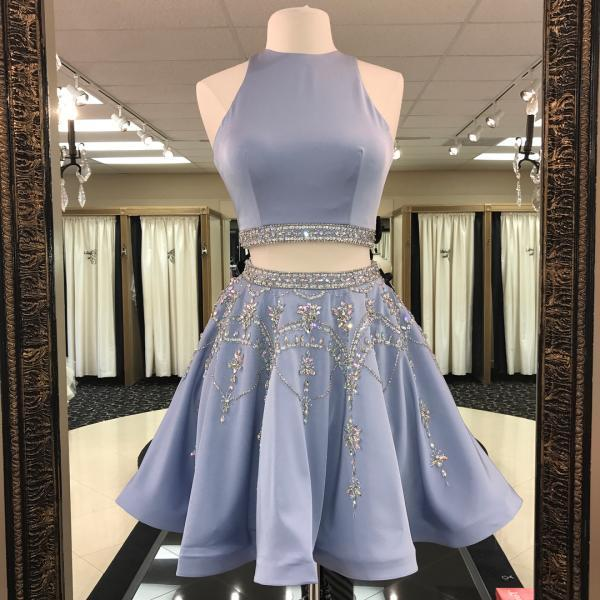 Charming Prom Dress, Two Piece Homecoming Dress, Sexy Prom Dress, Short Prom Gown F4494