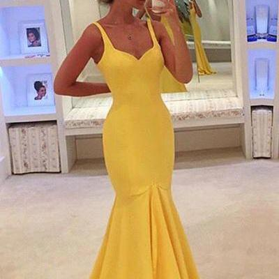 Sleeveless Prom Dress,Mermaid Evening Dress,Long Prom Dresses,Formal Gowns F1199